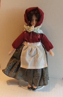 Primary image for International Doll Porcelain Blue Eyes Peasant Dress