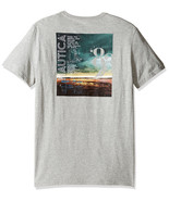 NEW MENS NAUTICA SHORT SLEEVE SAIL GRAPHIC PRINT HEATHER GREY T SHIRT TEE S - $17.99