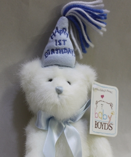 Primary image for Baby Boyds Bear 1st Birthday Boy - Poseable