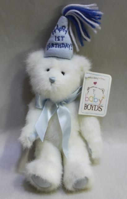 Baby Boyds Bear 1st Birthday Boy - Poseable