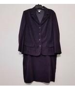 Tracy Evans Womens Skirt Suit 24W Purple Blazer Calf Length Skirt Stretc... - $44.82