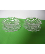 Elegant Fostoria Glass American Crystal (2) Cream Soup Bowls Under Plate... - $174.99