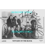 THE NEW KIDS ON THE BLOCK AUTOGRAPHED PHOTO MARKEY MARK WAHLBERG - $14.99