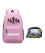 Roblox Backpack Package Summer Series Lunch Box Pink Schoolbag Daypack - $41.99