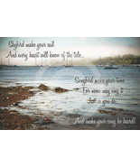 Skybird Seascape - Art Magnet  (Neil Diamond Song quote) - $7.99