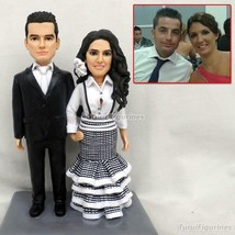 OOAK 100% Handmade Polymer Clay Doll - Proposing Wedding Bobbleheads Cre... - $148.00