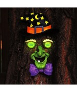 Transform your Tree with the 4-PC. Glowing TREE WITCH FACE Halloween Yar... - $48.50