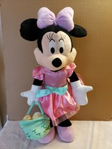 Disney Minnie Mouse Easter Spring Porch Door Greeter Holding Basket of E... - $24.75