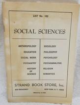 Strand Book Store Catalog # 103 - $21.99