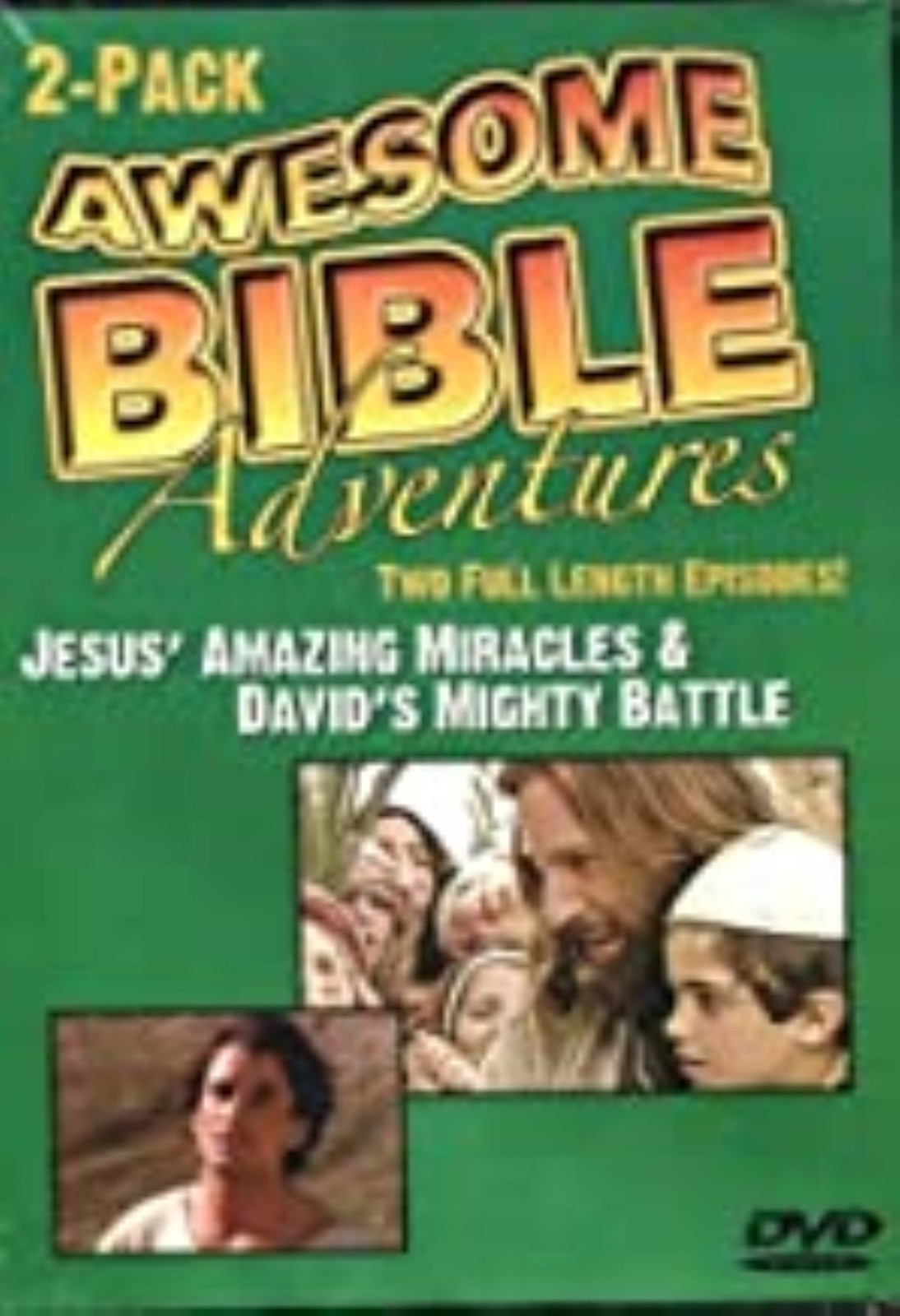 Awesome Bible Adventures: Jesus' Amazing Miracles & David's Mighty Battle Dvd