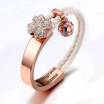 Rose Gold Bracelet, Lucky TREFLÉ Charm Bracelet, Gold Charm Bracelet, Mo... - $38.00