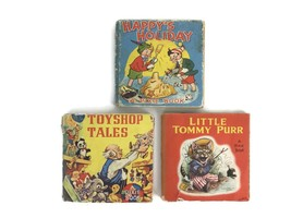 Vintage 1950s Pixie Book Series Children Collins UK Toyshop Holidays Tom... - $42.08