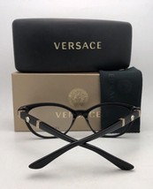 New VERSACE Rx-able Eyeglasses VE 3212-B 617 54-16 140 Brown & Gold w/ Crystals