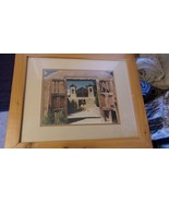 Taos New Mexico Pueblo Mission Church Frame & Matted Photograph by WJ Ma... - $148.50