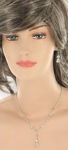 "Vintage Sterling Faceted Quartz Dangle  Y Necklace Earrings Wedding ? 19.5"" - $44.99"