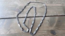 """Long Vintage Silver Tone N API Er Necklace 31"""" - $19.79"""