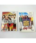 Nintendo Wii Disney Sing It Pop Hits & High School Musical Game lot of 2 - $9.49
