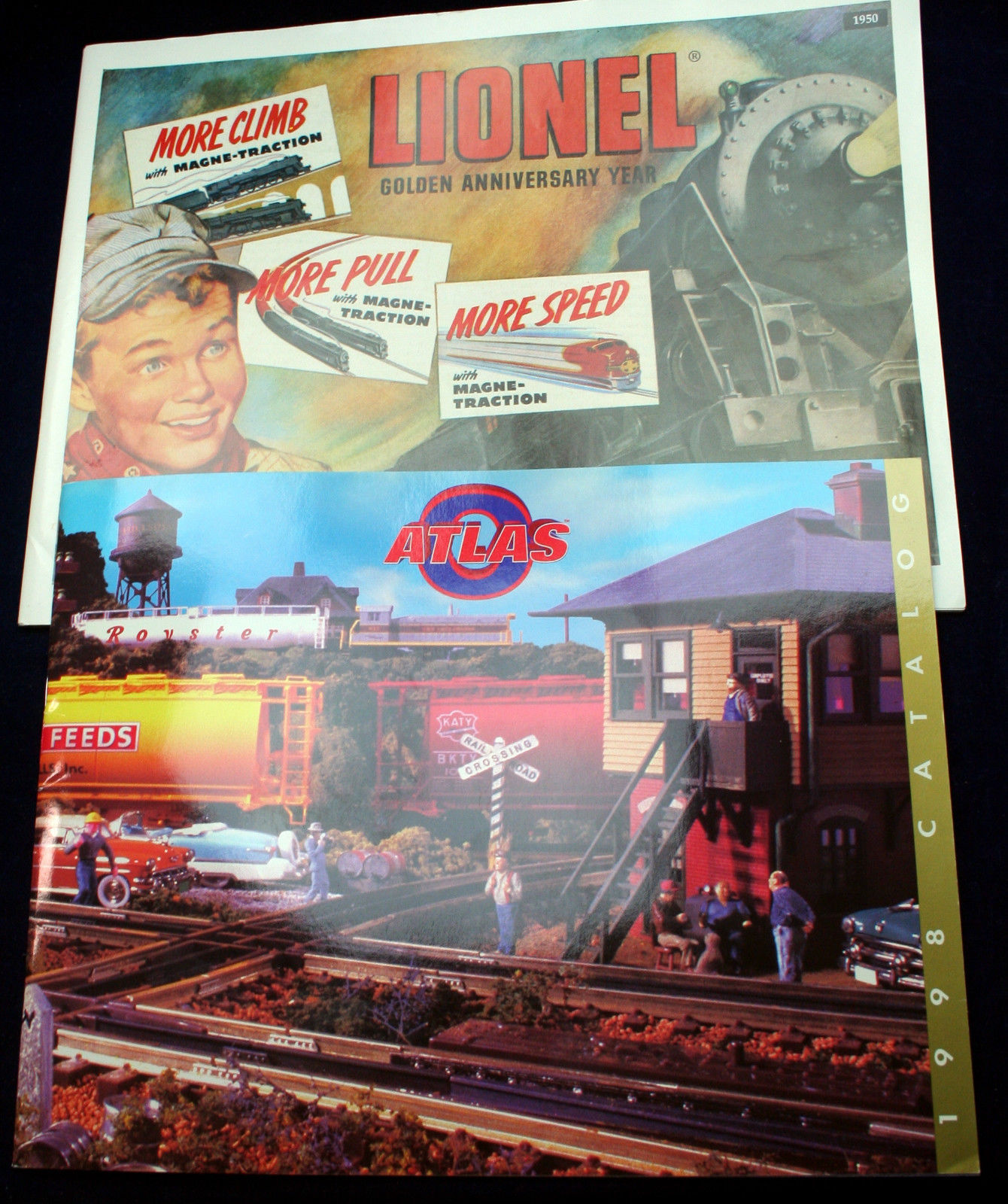 Primary image for Lot 2 Toy Model Train Catalog Lionel 75th Anniversary Magnetraction Atlas O gage