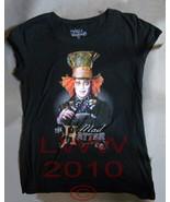 Alice in Wonderland Mad Hatter Johnny Depp Shirt Junior's X-Large - $6.95