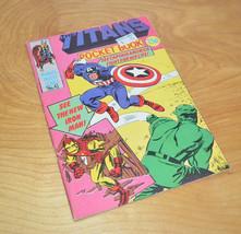 Vintage MARVEL AVENGERS UK Pocket Book Comic THE TITANS No. 4 Digest 198... - $11.18