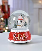 "5.7"" Christmas Design Musical Water Snow Globe w Snowman Figurine"