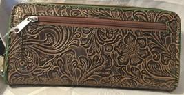 Gem Dandy Accessories John Deere Embossed Tan Floral Clutch image 2