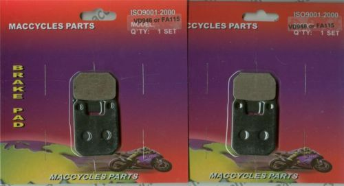 Montesa Disc Brake Pads Cota 125/304/307/315R/335 87-91&97 Front & Rear (2sets)