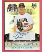 2015 Jameson Taillon Panini USA Stars and Stripes Rookie Auto 10/25 - Pi... - $18.99