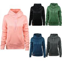 Women s Fashion Long Sleeve Sweaters Pullover Hooded Pocket Sweatshirt Jumper To