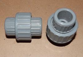 "1/2"" PVC Gray Union Slip Fittings 2ea Spears USA SCH 80 CPVC F437-F439 135R - $7.49"