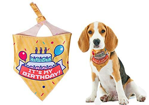 Petopian Pet Dog Birthday Bandana Cat Birthday Bandana Pet Scarf Yellow Perfect
