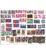 Lot of 60 Plus Various Vintage U.S. Postage Stamps, Some Duplicates, Used - $48.00