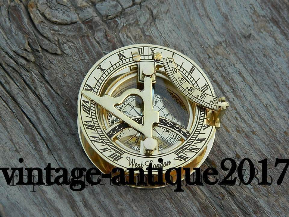 Marine Astrolabe Brass Compass Vintage Push Button Compass Handmade Pocket Gift.