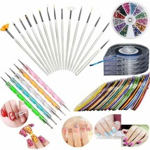 JOYJULY Nail Art Kit includes 30 Striping tape & 4Pcs Striping Roller Bo... - $23.74