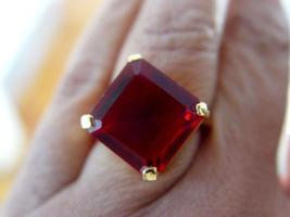 AMAZING RASPBERRY GARNET RING SQUARE OCTAGON - $59.00