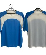 Men's Reebok Play Dry Shirt Light Blue & White Sz XXL - $14.84