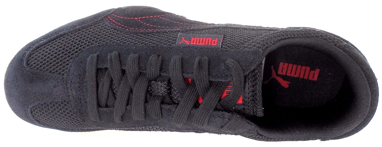 d91130c628a Puma 76 Runner Mesh Men s BLACK RED Shoes and 50 similar items