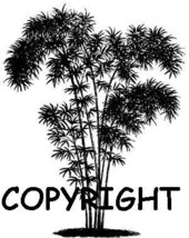 BAMBOO TREE BRAND NEW mounted rubber stamp - $7.50