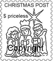 THREE WISEMEN POSTOID NEW RELEASE mounted rubber stamp - $4.50