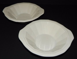 2 Homer Laughlin Classic White Colonial Dinner Cereal Soup Bowls in Dover 219992 - $24.74