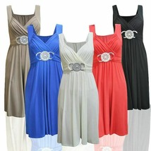 SHORT BRIDESMAID PARTY COCKTAIL EVENING PROM BUCKLE WOMENS MAXI DRESSSIZE 8-24 - $15.70