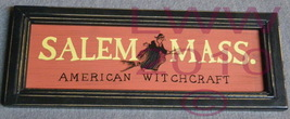 Salem Mass. American Witchcraft Halloween Primitive Sign - $3.99