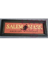 Salem Mass. American Witchcraft Halloween Primitive Sign - $7.99