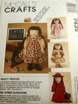 "McCall's Craft Pattern 7435 18"" Doll Clothing Fancy Frocks 1995 Uncut FF... - $7.91"