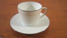 Tradition Platinum Hutschenreuther 1 Cup Saucer White Basketweave German... - $9.02