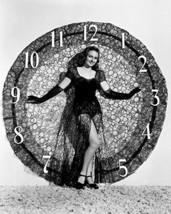 Donna Reed Sexy Pose In Lace In Front Of Clock 16X20 Canvas Giclee - $69.99