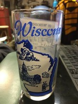 "Wisconsin 5.25"" Vintage State Song Glass Tumbler On Wisconsin Music - $19.99"