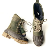 Kamik Sienna 2 Green Snow Waterproof Water-resistant Flannel Boots 3M Th... - $102.84