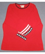 Faded Glory Red Stars and Stripes Sweater Size ... - $12.50