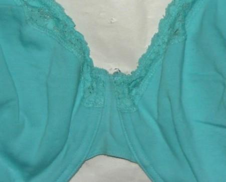 44 DD Aqua Cotton/spandex Bra